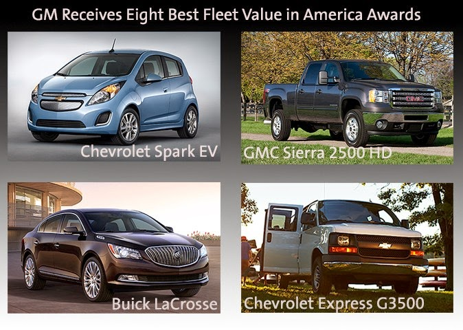 General Motors Wins Eight Vincentric 2014 Best Fleet Value